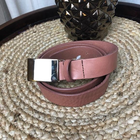 J. Crew Accessories - J. Crew Dust Rose Leather Belt Medium